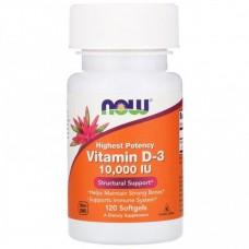 Витамин D-3 10000  (Now)