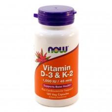 Vitamin D-3 + К2 1000 МЕ (Now)