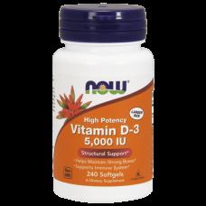 Витамин D-3  240 кап 5000 (Now)